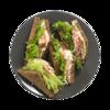 Фото к позиции меню Клаб сэндвич с курицей и беконом
