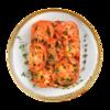 Фото к позиции меню Баклажаны с помидорами и чесноком жареные