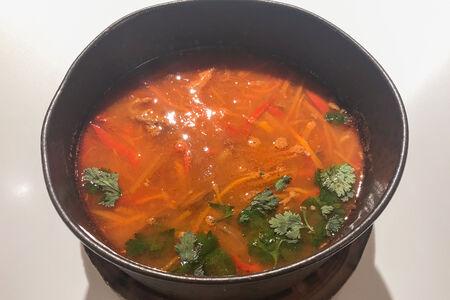 Суп с разварной телятиной