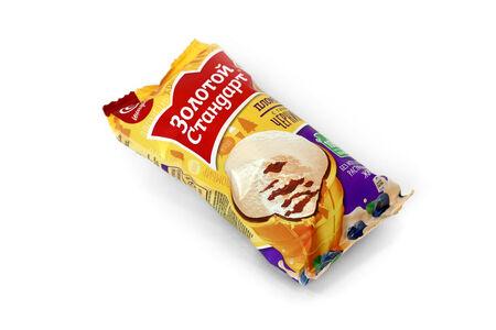 Мороженое Золотой стандарт Пломбир с черникой