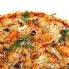 Фото к позиции меню Пицца Курица и грибы