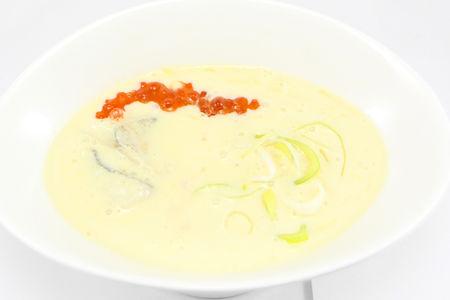 Суп-крем из судака и кукурузы