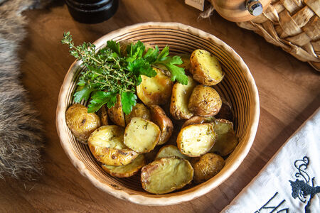 Печёный мини-картофель