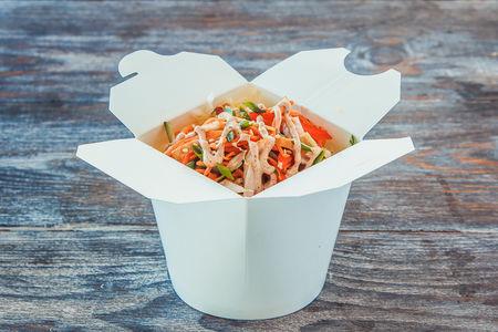 Салат с копченым цыпленком в азиатском стиле