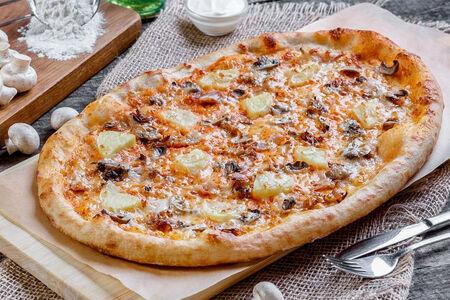 Римская пицца с картофелем и грибами