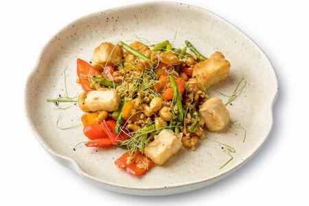 Овощное рагу с сыром тофу