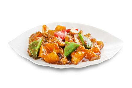 Жареные овощи в соусе