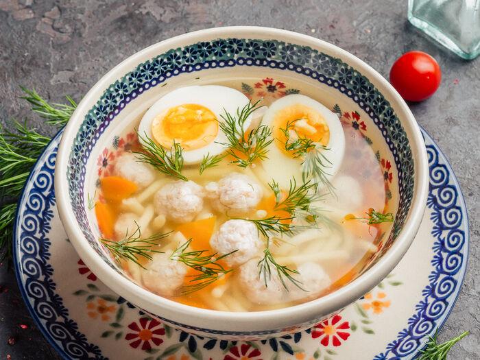 Суп Итальянский куриный с домашней лапшой