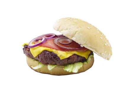 Чизбургер с мраморным мясом