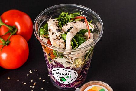 Шейк-салат с цыпленком