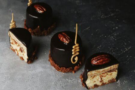 Сливочно-шоколадный торт с фундуком