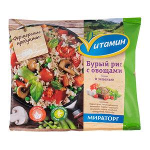 Бурый рис «Vитамин» овощи-зелень