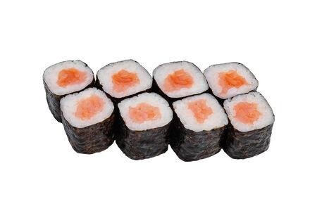 Ролл Хосомаки с лососем холодного копчения