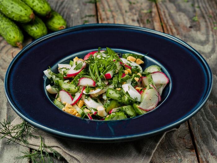 Овощной салат с грядки