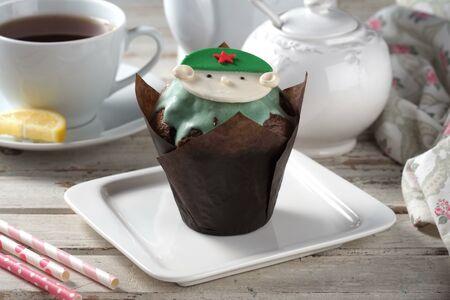 Маффин с шоколадом (праздничный)
