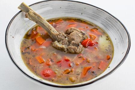 Суп с телячьей корейкой и овощами