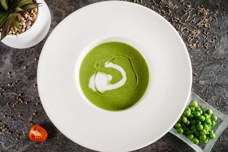 Крем-суп из горошка