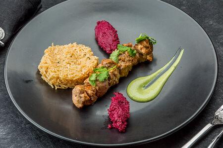 Тикка из цыпленка с рисом басмати