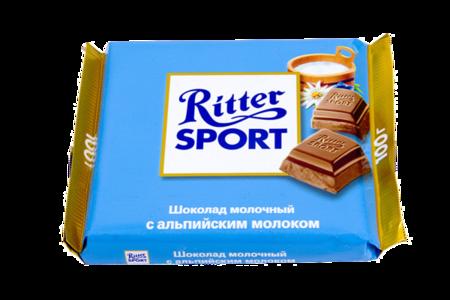 Шоколад Риттер Спорт молочный с альпийским молоком