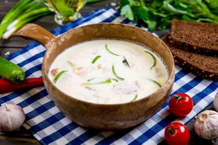 Суп сливочный из семги по-фински