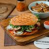 Фото к позиции меню Бургер Пилечи-батак