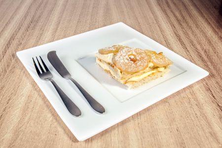 Торт Наполеон грушевый