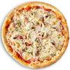 Фото к позиции меню Пицца с курицей, шампиньонами, ветчиной