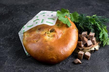 Пирог Осетинский с мясом и зеленью