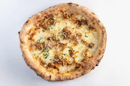 Пицца Белые грибы и Скаморца