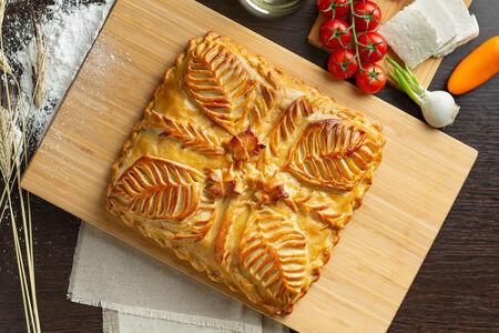 Русский пирог Овощи и нежный сыр