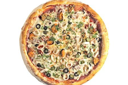 Пицца С мидиями и кальмаром