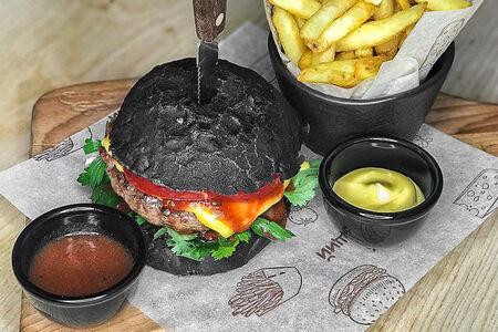 Бургер Голый Черный
