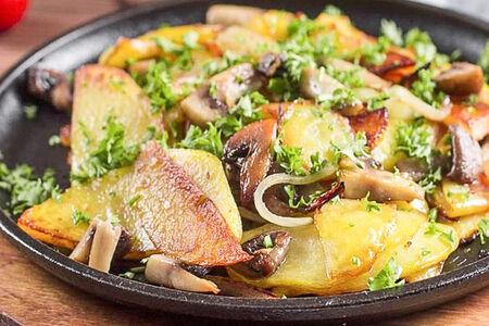 Жареный картофель по-домашнему