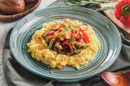 Мамалыга с овощами