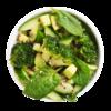 Фото к позиции меню Салат Бруклин с авокадо, огурцом и брокколи