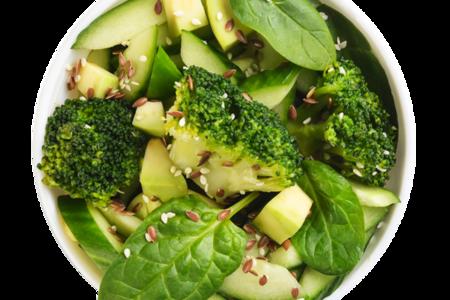 Салат Бруклин с авокадо, огурцом и брокколи