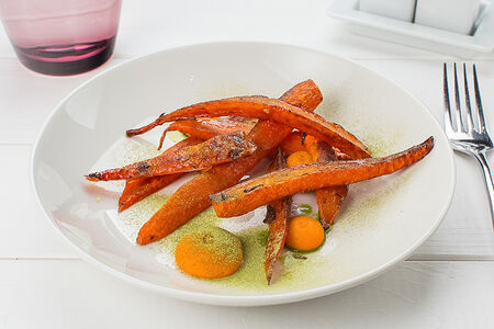 Морковь с соусом бернуазет