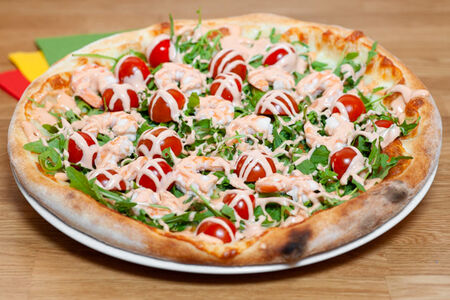 Пицца Розовая креветка