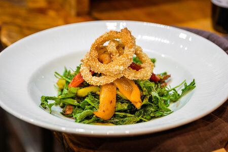 Гриль-салат с печеным перцем