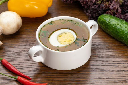 Суп Бульон говяжий с яйцом