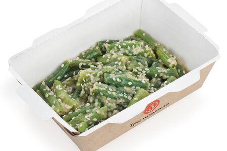 Зеленая фасоль с кунжутным соусом