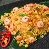 Фото к позиции меню Рис жареный с креветками и овощами