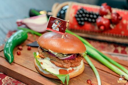 Бургер-Кебаб с курицей