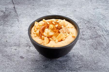 Десерт Гурьевский яблочно- карамельный с миндальным орехом и чипами