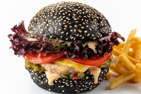 Чикен Блэк бургер