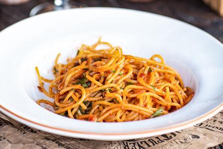 Спагетти Аррабиата