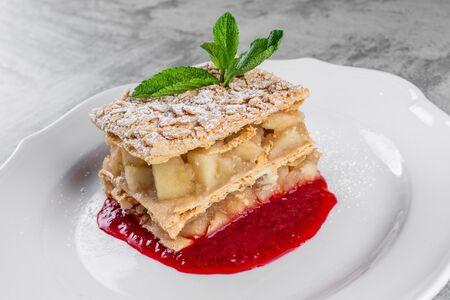 Торт Наполеон яблочный