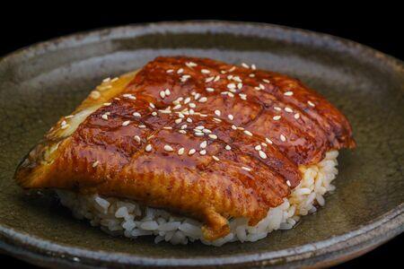 Угорь на рисе с соусом унаджу