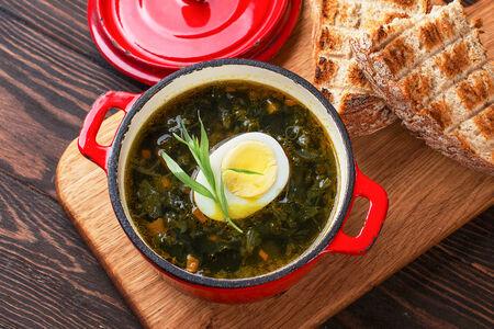 Суп из крапивы с телятиной