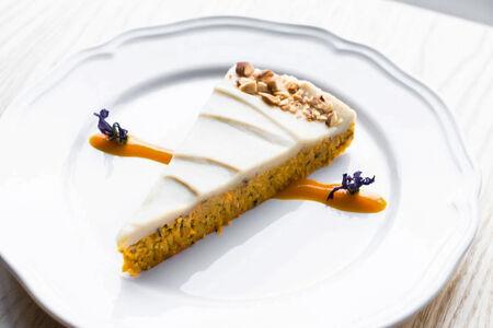 Морковный сыроедческий торт
